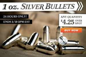 24 Flash Sale – 1 Oz. Silver Bullets!!!