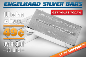 Engelhard Silver Bars 49¢ Over Spot