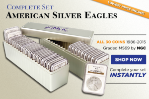 Complete Set of Certified American Silver Eagles (1986-2015)
