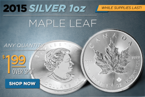 Flash Sale! Silver Maple Leafs $1.99 Over Spot – Any Quantity