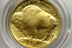 Red Spots On Gold Coin