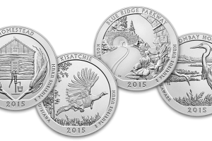 America The Beautiful 5 oz. Silver Coin Mintages (2010-2015)