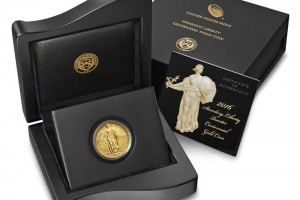 2016-W Gold Standing Liberty Quarters