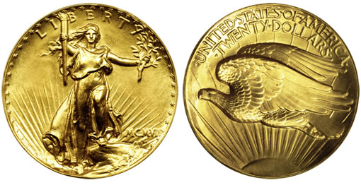 1907 High Relief Double Gold Eagle