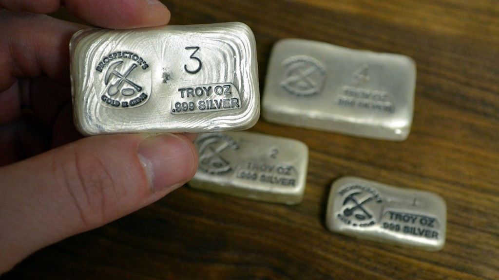 Poured Silver Bars