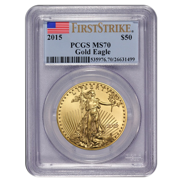 2015 1 oz Gold Eagle PCGS First Strike MS70