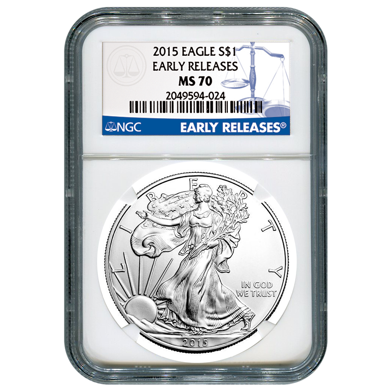 2015 Silver Eagle NGC MS70 Early Releases