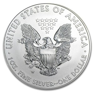 Burnished American Silver Eagle W Mint Mark