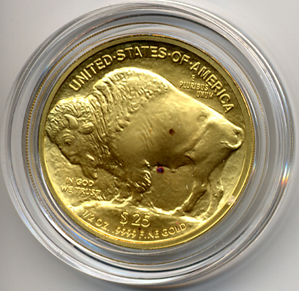 2008 Buffalo with Red Spots- Enlarged